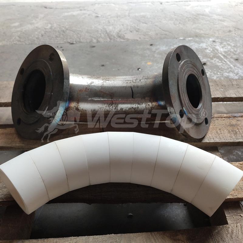 氧化铝耐磨陶瓷环-整体耐磨陶瓷弯头